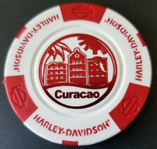 Harley Poker Chip~Golf Ball Marker (White/Red) HD CURACAO