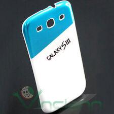Cover copri batteria DUOS bianco+azzurro p Samsung Galaxy S3 i9300 copribatteria