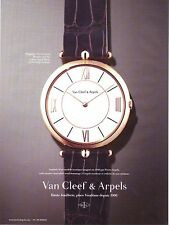 PUBLICITE PAPIER ADVERTISING 014 2013 VAN CLEEF & ARPELS  montre