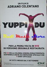 CARTONATO PROMO ADRIANO CELENTANO Yuppi du 68 X 97 CM cd dvd vhs lp live mc