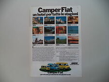 advertising Pubblicità 1980 CAMPER FIAT SHANGO/ANDAL/KAVIR