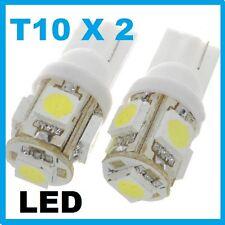 T10 SUPER WHITE LEDs 10mm Park Number Plate Light 194 168 501