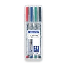 STAEDTLER Lumocolor Non-permanent Superfine Universal Marker Pens Desktop 4 PK