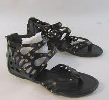 Nuevo Mujer Verano Negro/Tachuela/Piedra Zapatos Mujer romano