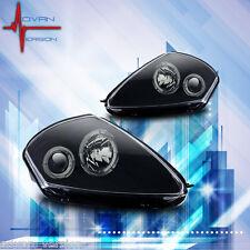 Winjet 2000-2005 Mitsubishi Eclipse Projector Halo Headlights - Black/Clear