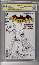 Batman (2011) # 20 1:100 Sketch RI - CBCS 9.6 WHITE Pages - SS Ben McKenzie