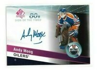 2019-20 SP AUTHENTIC SIGN OF THE TIMES 1980S #ST80AM ANDY MOOG UD AUTO OILERS