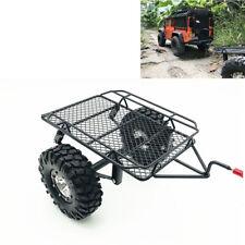 For 1/10 Axial D90 SCX10 CC01 DIY TRX-4 RC Car Rock Crawler Small Trailer W/Tire