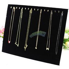 Necklace Bracelet Earring Jewelry Storage Hanger Holder 17 Hooks Velvet Plate
