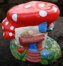 Fairy Wood House Garden Ornament-Handmade by Pixieland (concrete)