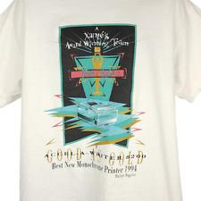Accel A Writer 8200 T Shirt Vintage 90s Monochrome Printer Xante Made In USA XL