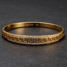 Elegant Damen Armband Armspange Gelbgold Zirkonia 24 Karat Gold vergoldet