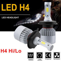 1 Pair H4 9003 HB2 72W 8000LM White LED Headlight Car Kit Hi/Lo Beam Bulbs 6000K