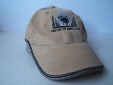 Newfoundland Moose Hat Beige Hook Loop Baseball Cap