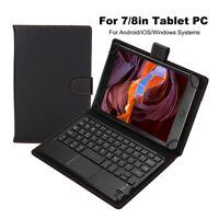 7/8 Zoll Wireless Bluetooth Keyboard Tastatur Touchpad für Android/iOS/Windows