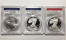 2017 W S PCGS PR MS 70 FS 1oz Silver Eagle $1 Proof BU Congratulations Set
