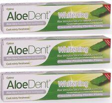AloeDent Whitening 100 ml Fluoride-Free Toothpaste - 3 Pack
