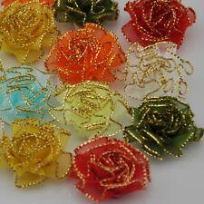 20 pcsorganza flowers wedding sewing appliques crafts decoration  B69