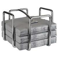 Serviettenhalter aus hartverchromten Metall für ca. 95 Servietten mit 1/4 Falz