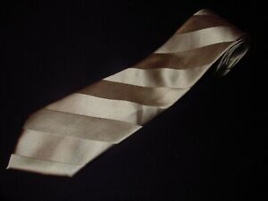 Donald Trump Tie Extra Long XL Gold Stripe Luxury Satin Designer Luxury Mens