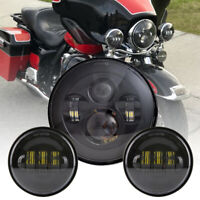 7Inch LED Headlight Passing Light for Harley Fatboy Heritage Softail Deluxe FLST