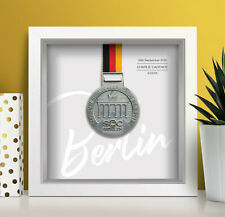 Berlin Marathon Medal Frame Personalised (script) - A unique gift!