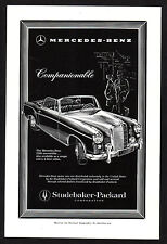 1958 Vintage Mercedes Benz 220S Convertible Car Art Print Ad