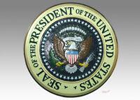 U.S. USA US President Presidential Mahogany Wood Handmade Plaque Seal Emblem