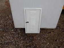 """Trailer Baggage Door, 20"""" X 11"""", W/Lock and Keys, Vented, New Door, White, #13"""