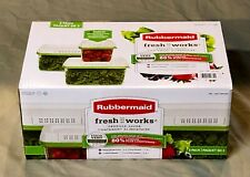 Rubbermaid Fresh Works Produce Saver - 2 Large & 1 Medium Container - NIB