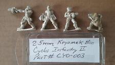 25mm Kryomek  Miniatures Cyclos Infantry II