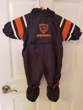 Chicago Bears Nfl Reversible Infant Baby Bunting Snowsuit 3-6 Mo