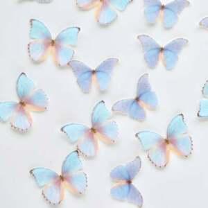 Edible Pre-Cut Wafer Butterfly - Blue & Purple