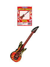 Inflatable Flame Guitar Blow Up Rock N Roll Disco Party Musical Instrument 106cm