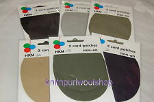 Pack of 2 Cord Elbow Patches  - Iron on - Various colour options