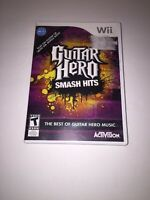 Guitar Hero: Smash Hits Nintendo Wii COMPLETE With Manual *TESTED*