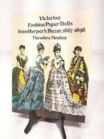 Vintage Victorian Fashion Paper Dolls Harper's Bazaar Theodore Menten Book 1977