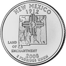 2008 D New Mexico State Quarter BU