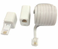 10m-bt Landline Telephone Extension Cable Lead for Phone Fax Modem Broadband