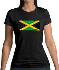 Jamaica Grunge Style Flag - Womens T-Shirt - Jamaican - Flags - Travel - Country