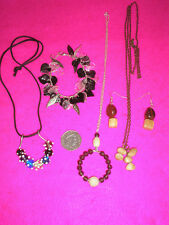 COLLECTABLE COSTUME JEWELLERY NECKLACE X3 BRACELET X1 EARRINGS X1PR BEADS/STONES