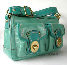 COACH Legacy RARE Turquoise Leather Shoulder Bag Purse Tote 13371 $498 AMAZING !
