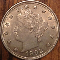 1902 USA LIBERTY 5 CENTS UNCIRCULATED