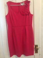 sleveless knit dress rasberry knee length size 14 by Juliant Taylor