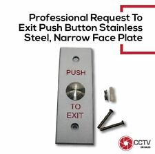 Access Control Request To Exit Push Button Stainless Steel Narrow Plate NO,NC,CO