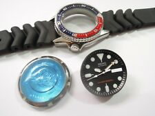 NEW REPLACEMENT SEIKO PEPSI CASE,CROWN,DIAL,HANDS,STRAP FITS DIVER'S 7S26-0030