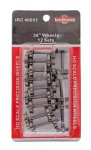 "InterMountain HO W40051 36"" Brass Wheelsets 12 Pack"