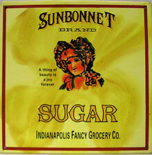 Sunbonnet Brand Sugar Home Products Baking Ingredients Distressed Metal Sign