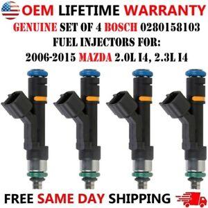2009, 2010, 2011, 2012, 2013 Mazda 3 Sport 2.0L I4 Genuine 4pcs Fuel Injectors