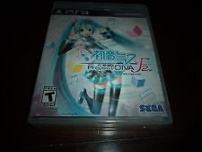HATSUNE MIKU PROJECT DIVA 2ND FOR PS3 PLAYSTATION 3 BRAND NEW AND FACTORY SEALED